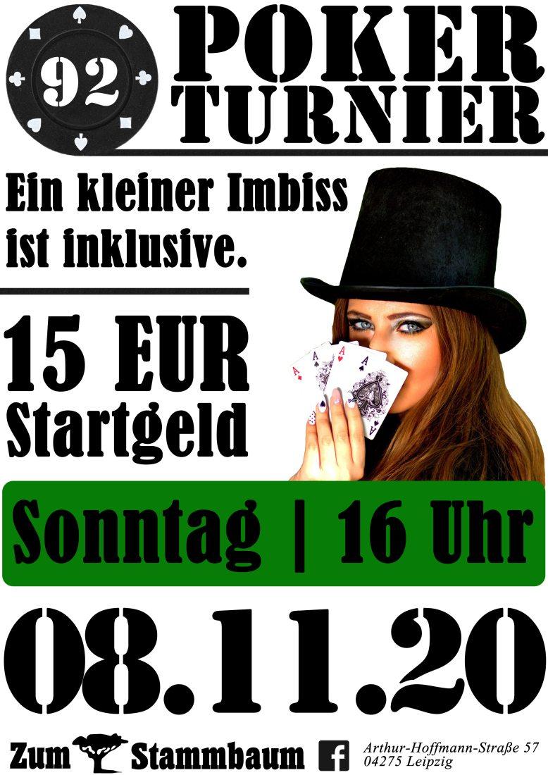 Pokerturnier im Zum Stammbaum Leipzig